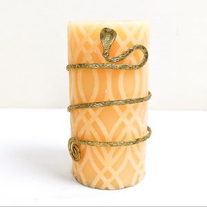 Citrus Mango Candle with Metal Snake Cuff